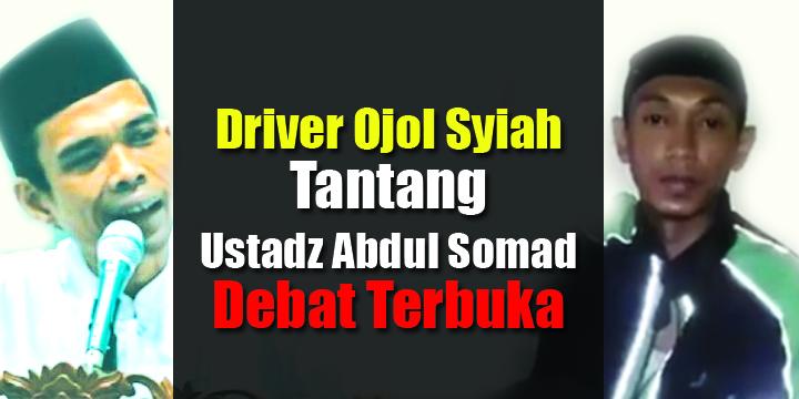 Heboh, Tak Terima Ajaran Syiah Disebut Sesat, Driver Ojol Ini Bikin Video Tantang Ustadz Abdul Somad Debat Terbuka....