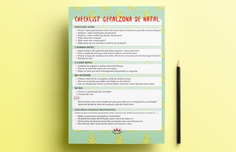 Um planner imprimível pra te ajudar com a correria de Natal! | dcoracao.com