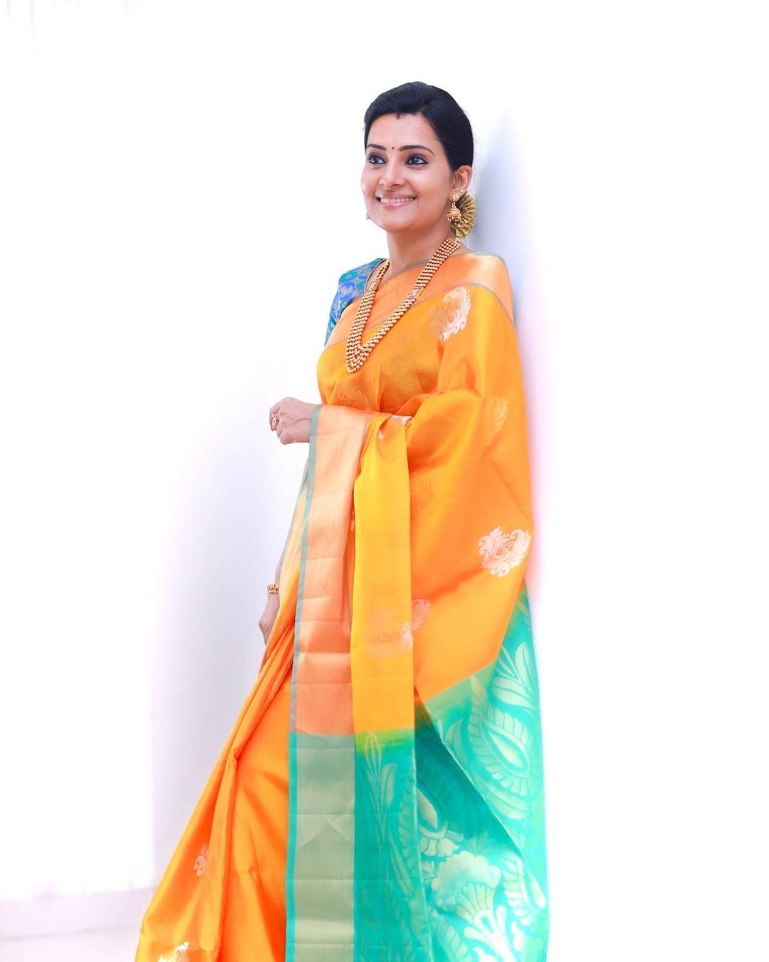 Actress Sruthi Raj Latest Photos in Saree