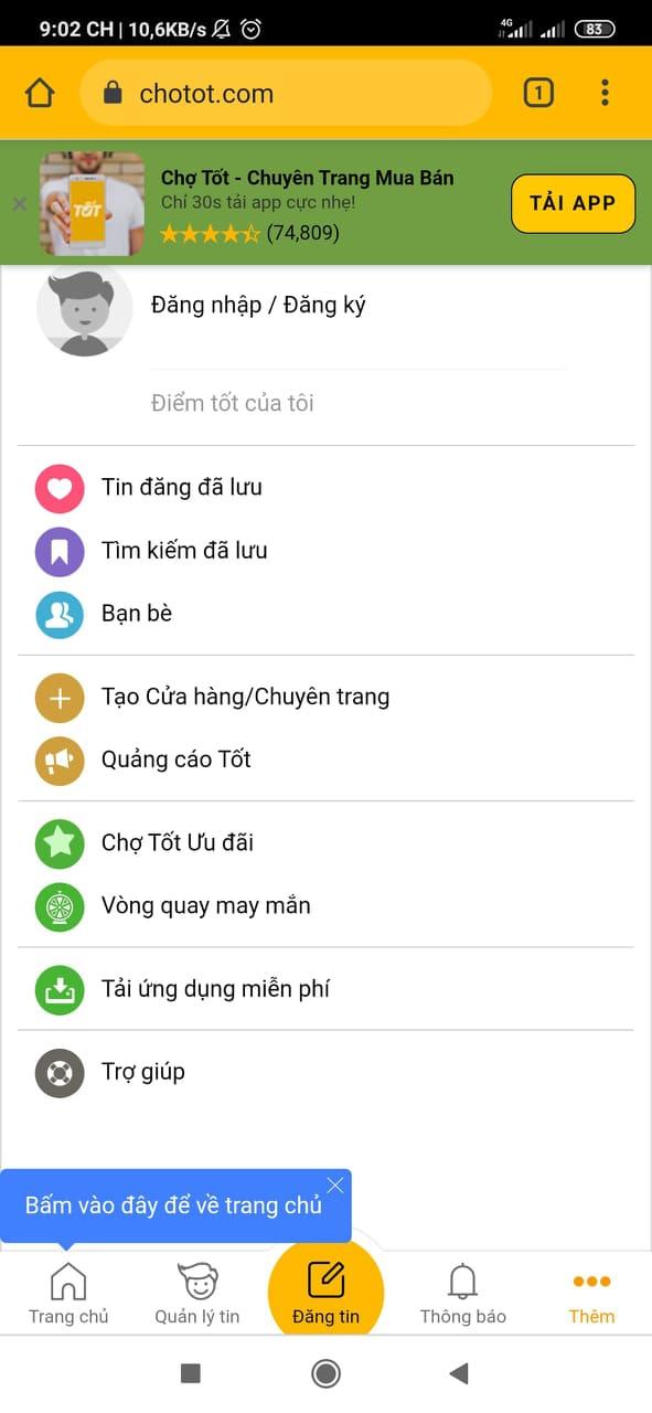 Tải app Chợ Tốt   Ứng dụng chuyên mua bán online trên ChoTot.Com d