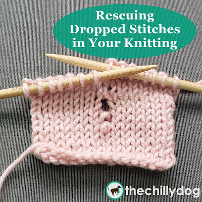 Knitting Video Tutorial: How to fix dropped stitches in your knitting so you don't get unraveled