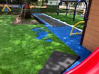 鋪設人工草皮複層地墊