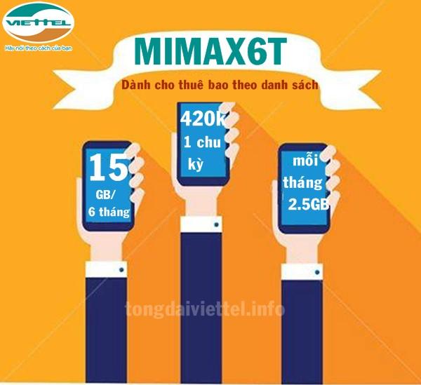 Hướng dẫn cách đăng ký gói Mimax6T của Viettel