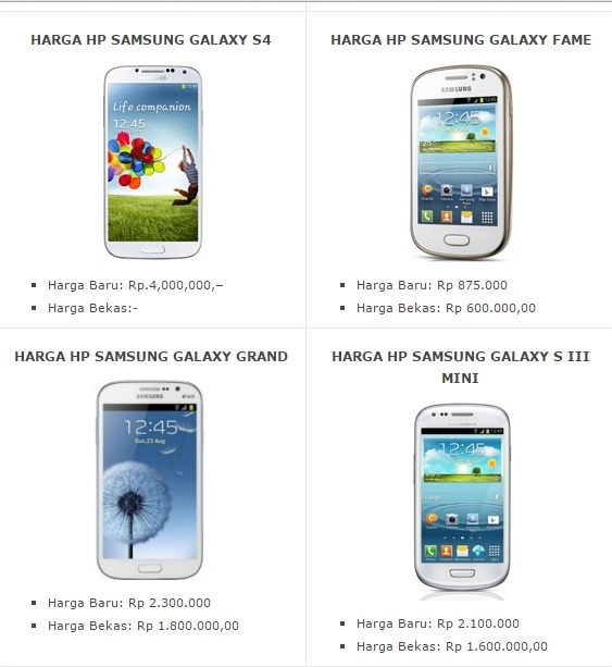 Daftar Harga HP Samsung Android Ter Update Juni 2016, List Harga HP Samsung 2016 Terbaru dan Ter Update
