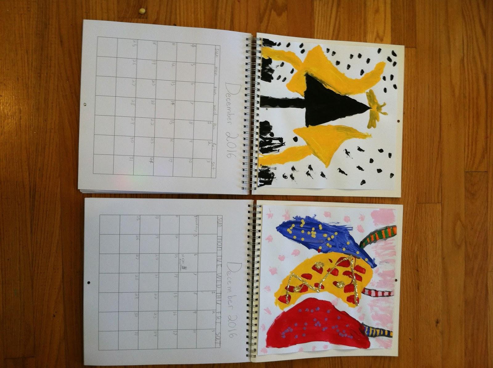 Switzerite Notes On Homemade Calendar Activity