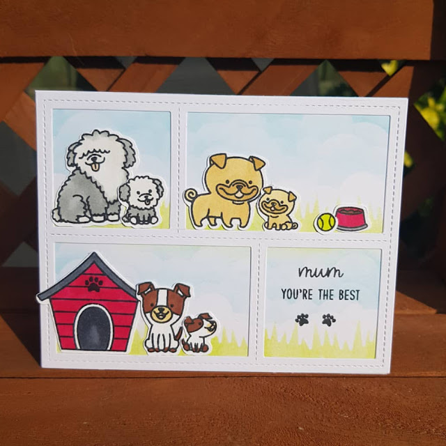 Sunny Studio Stamps: Puppy Parents Customer Card by Nic