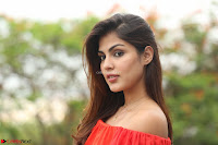 Rhea Chakraborty in Red Crop Top and Denim Shorts Spicy Pics ~  Exclusive 296.JPG
