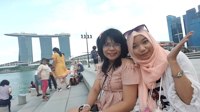 tempat foto di merlion park singapore