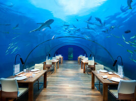 maldives under water dining