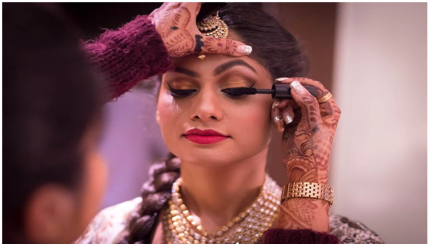 Shruti Bhat Make shoot – A bride make sure that the makeup looks perfect on camera.
