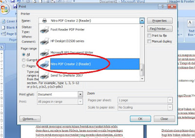 cetak virtual printer dengan nitro pdf