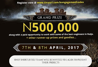 Earn N500,000 From Konga Game of Codes Challenge
