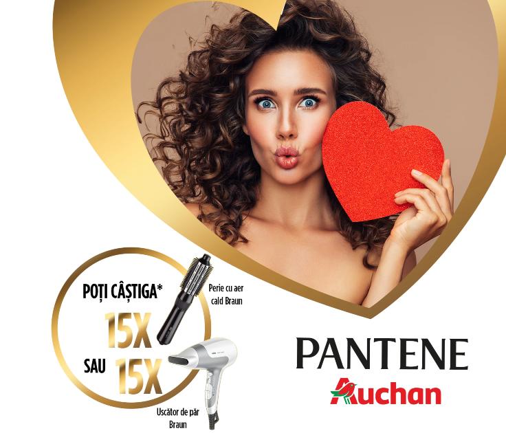 Concurs PANTENE Auchan - Castiga 15 perii de par cu aer cald de la BRAUN - 2021 - concursuri - online