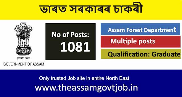 Forest Department, Assam Recruitment 2020 govt job