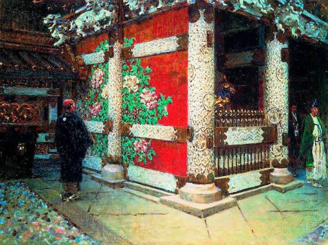 Василий Васильевич Верещагин - Шинтоистский храм в Никко. Около 1904