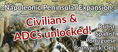 Peninsular Napoleonics Not-Kickstarter, Civilians and ADCs Unlocked from Pendraken Miniatures