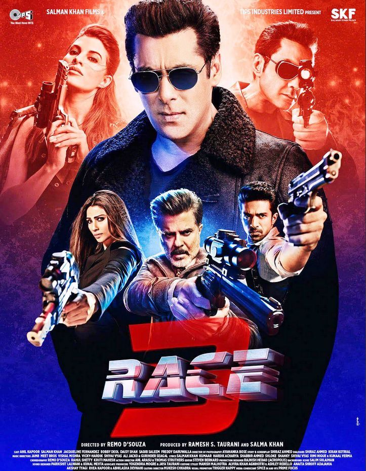 Race 3 (2018) Hindi [720p + 480p] Bluray 1.2GB Download