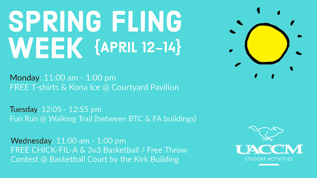 "Text reading ""Spring Fling Week"""