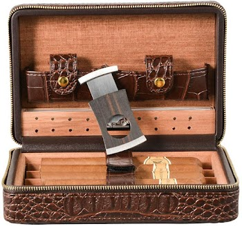 40% off  Brown Cigar Humidor Case