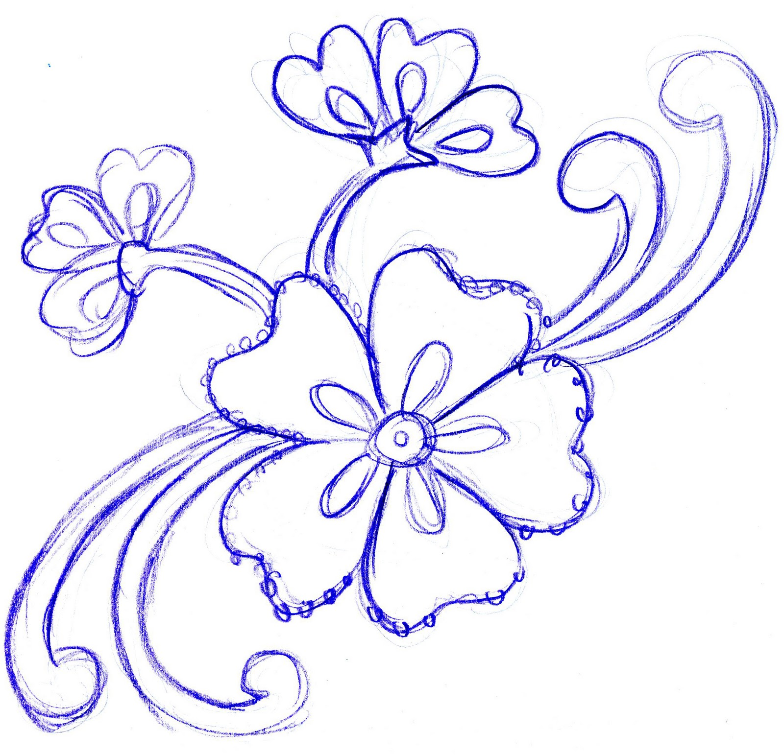 Flower Drawings Simple: Corinne Okada Design: Concept Sketches For Hospital Art