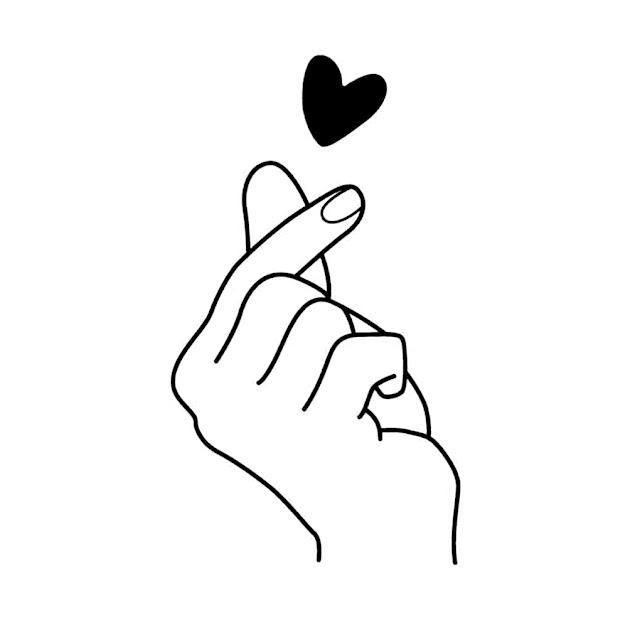 Sketsa love tangan