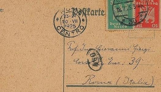 Carta de Albert Einstein para Giovanni Giorgi