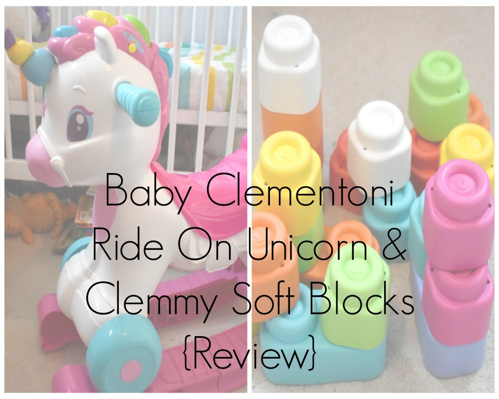 Baby Clementoni Ride On Unicorn & Clemmy Soft Blocks Review