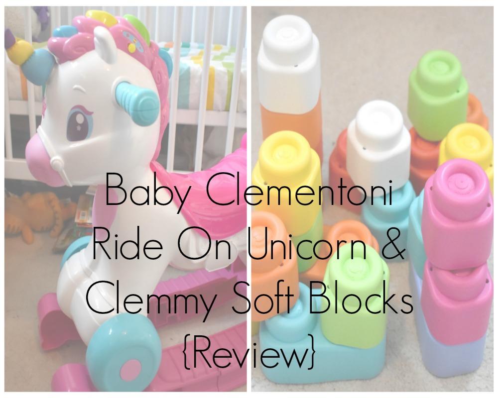 Baby Clementoni Ride On Unicorn & Clemmy Soft Blocks Review
