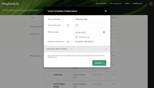 Cara Deposit Di Wahed Invest Tanpa Dikenakan Caj RM1