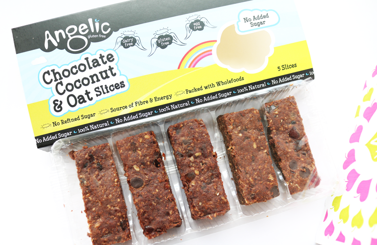 Angelic Gluten Free Chocolate Coconut & Oat Cake Slices