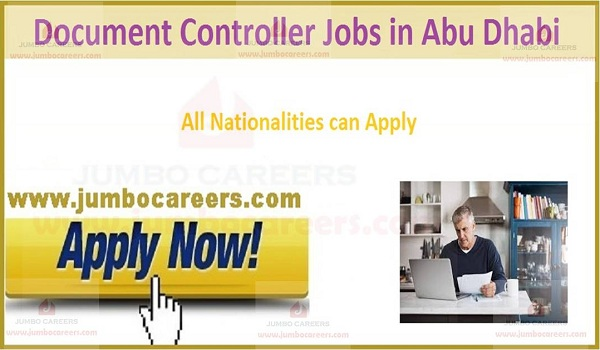 UAE Urgent document controller jobs with salary,