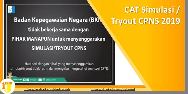 CAT Simulasi / Tryout CPNS 2019 Yang Resmi