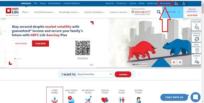 HDFC life insurance plans online Register Login.