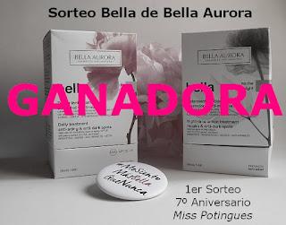 Ganadora Sorteo Bella de Bella Aurora, 7� Aniversario Miss Potingues