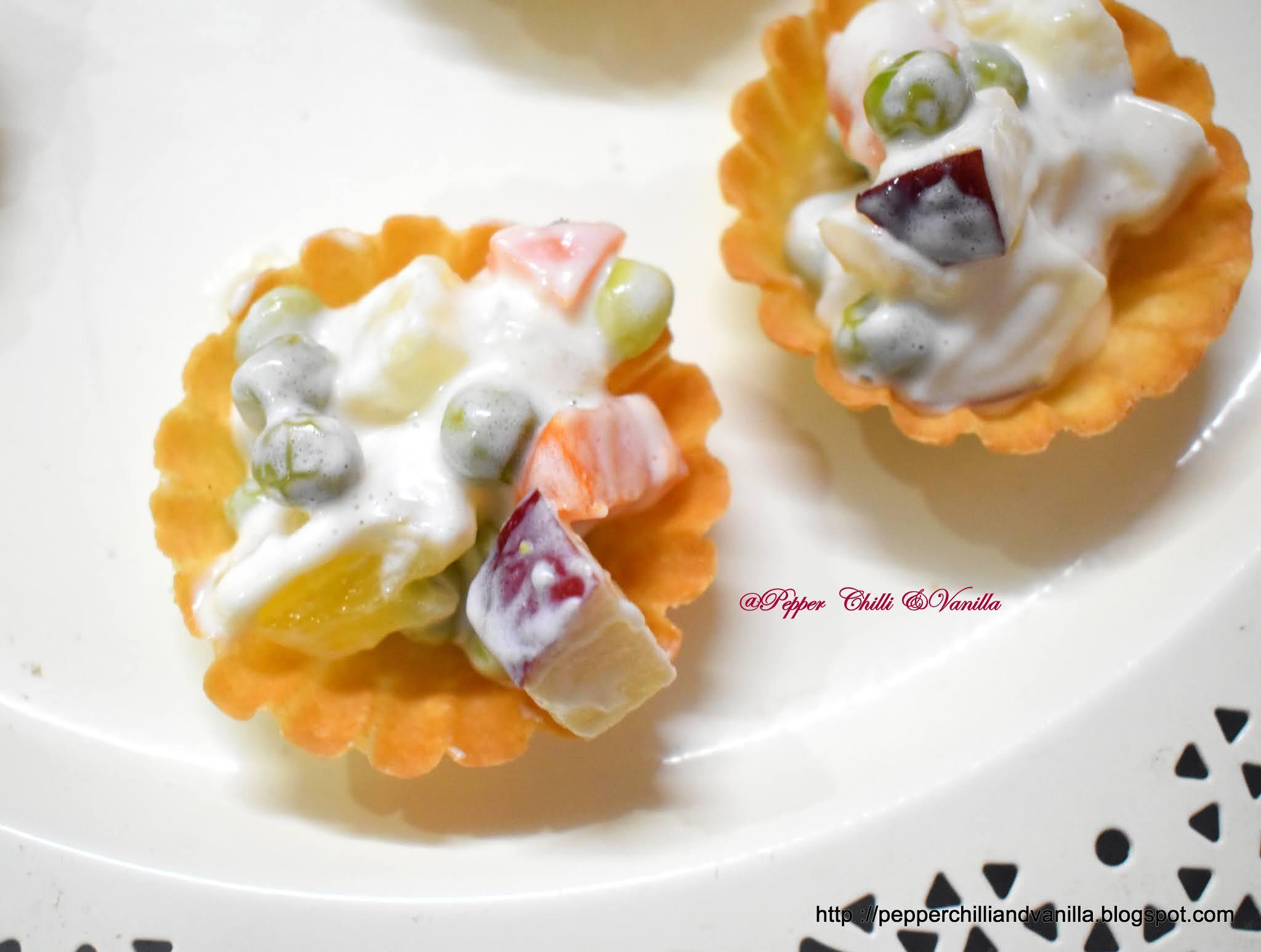 forminhas with russian salad ,goan canape ,goan forminhas canape