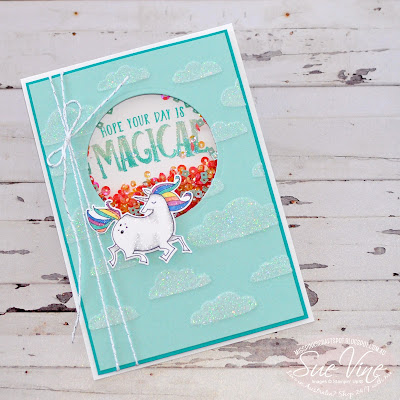 Magical day with shimmery embossing paste