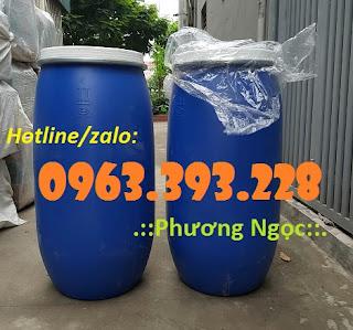 Thùng phuy nhựa nắp mở, thùng phuy nhựa đựng thực phẩm 89ac33b8929477ca2e85