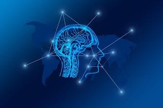 Transformation Netz Gehirn Netzwerk Stadt Skyline