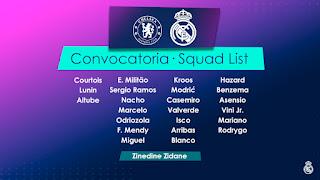 Los convocados por Zidane para enfrentar al Chelsea