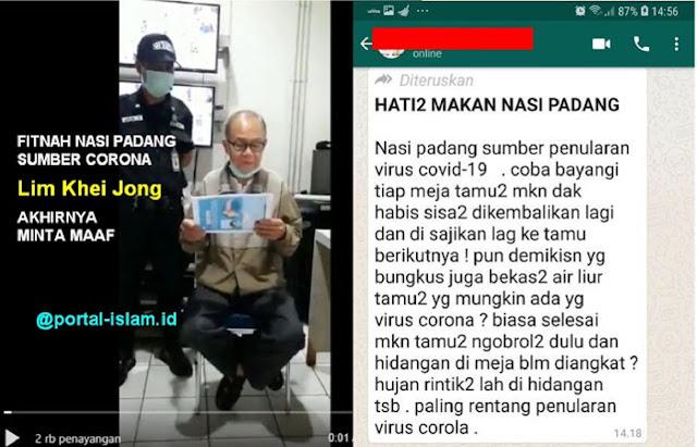FITNAH Nasi Padang Sumber Penularan CORONA, Lim Khei Jong Akhirnya MINTA MAAF berMaterai