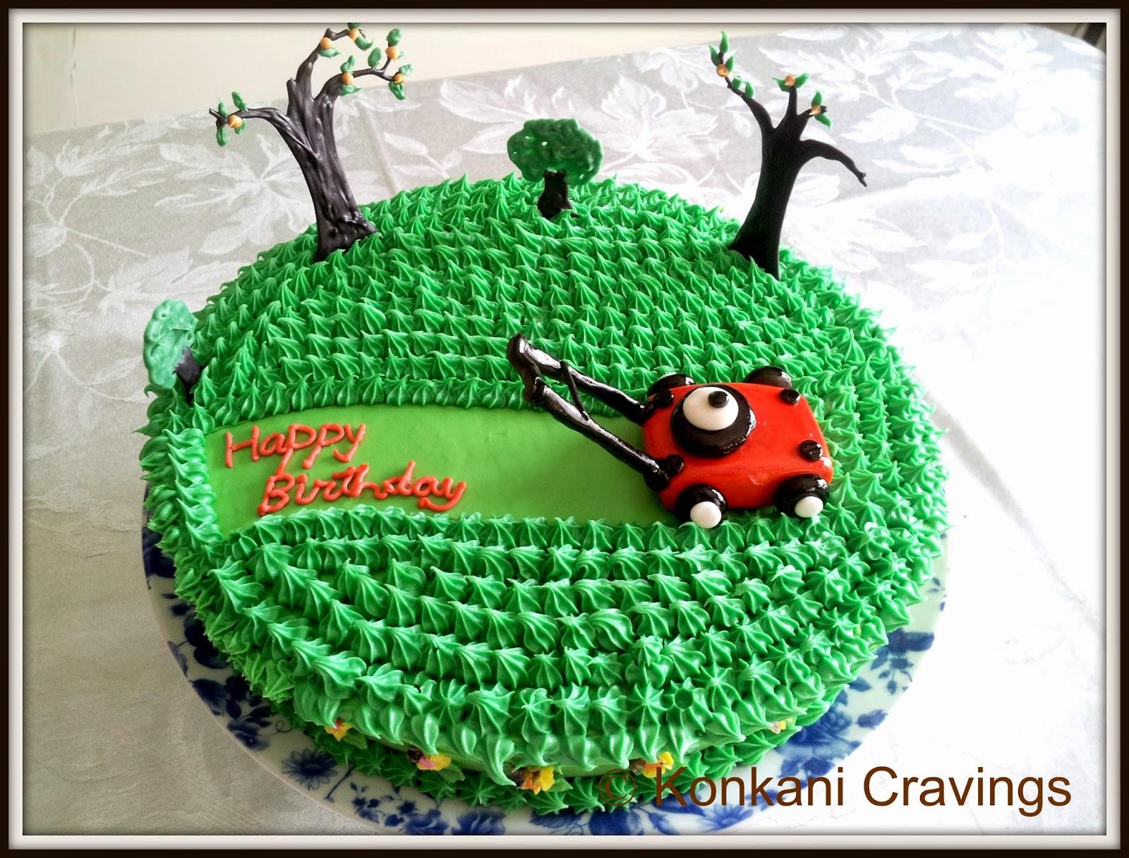 Konkani Cravings Birthday Cake Lawn Mower