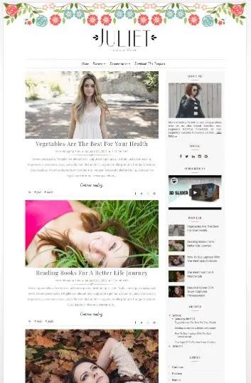 Download Juliet - Premium Blogger Template