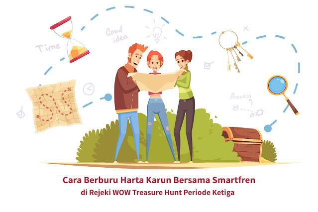Cara Berburu Harta Karun Bersama Smartfren di Rejeki WOW Treasure Hunt Periode Ketiga
