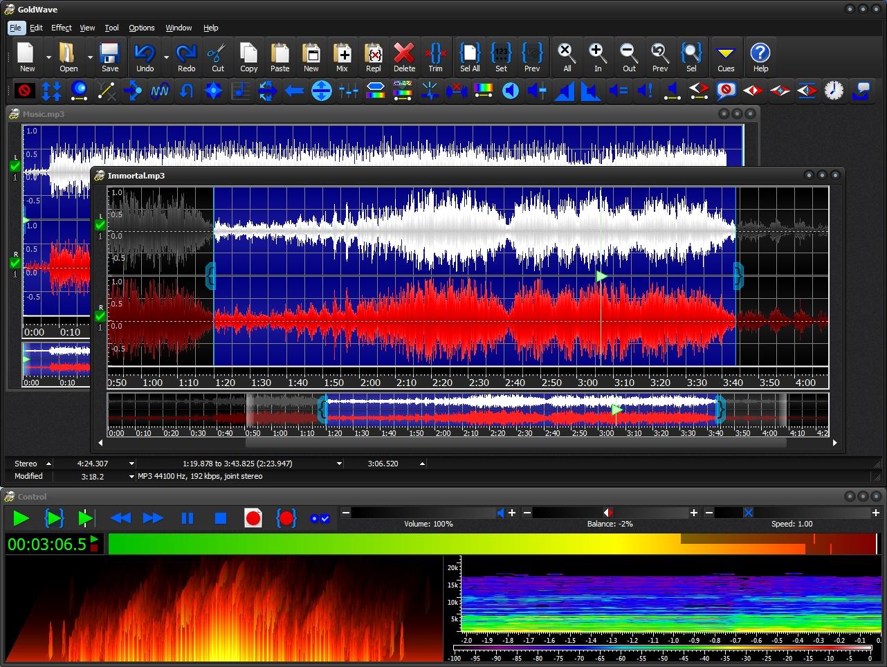 تحميل برنامج محرر صوت رقمي رائع وكامل المزايا GoldWave 6.46