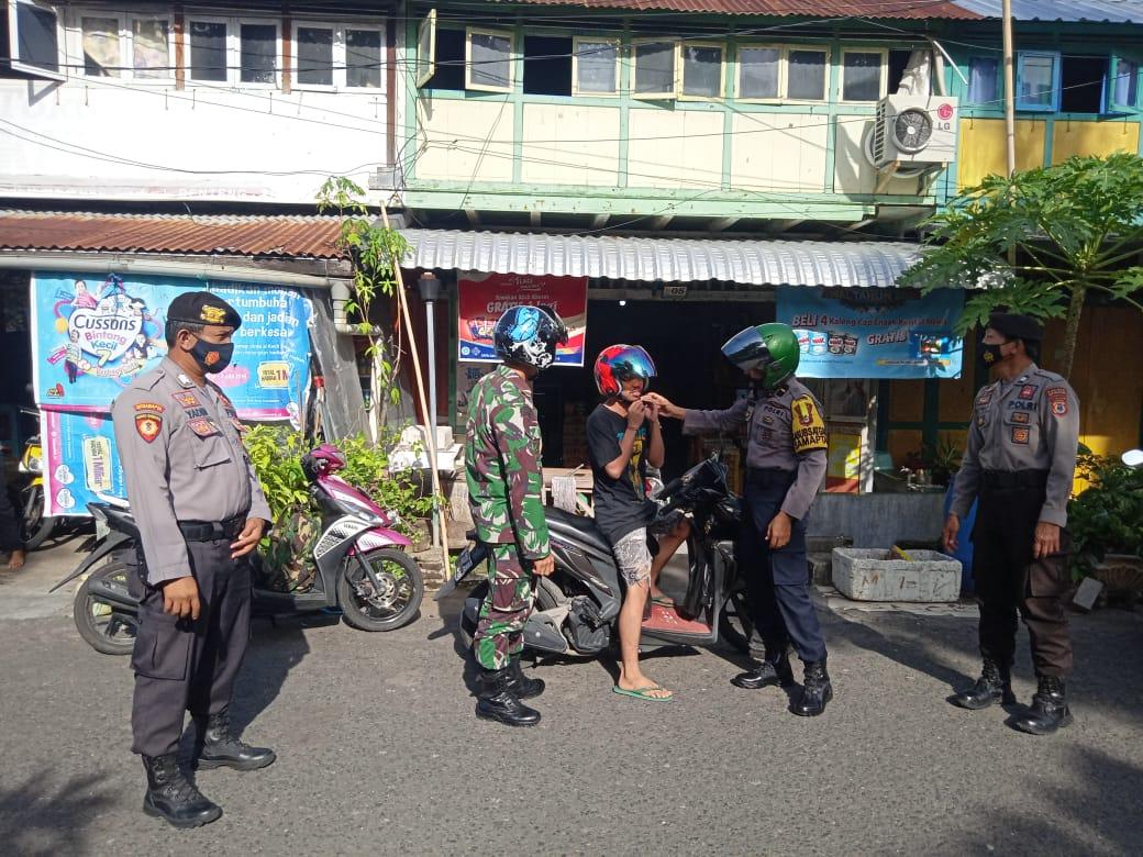 TNI-Polri dan Satpol PP Melaksanakan Patroli Sasar Tempat Kerumunan di Selayar