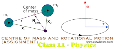 CBSE Class 11 - Physics - Centre of Mass and Rotational Motion (Assignment) (#cbseNotes)