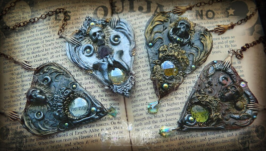 Halloween ouija planchette necklaces