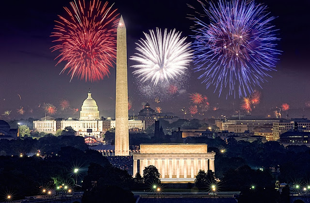 4th Of July Celebration In Washington DC, Fireworks, Parades, Games & Festival