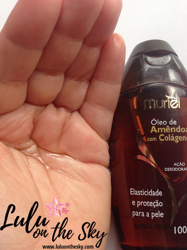 Óleo de Amêndoa  com colágeno - Nova Muriel