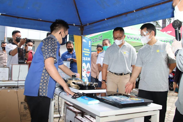 Kasrul Selang Launching Stasiun Penyedia Kendaraan Listrik Umum (SPKLU) di Maluku-Malut